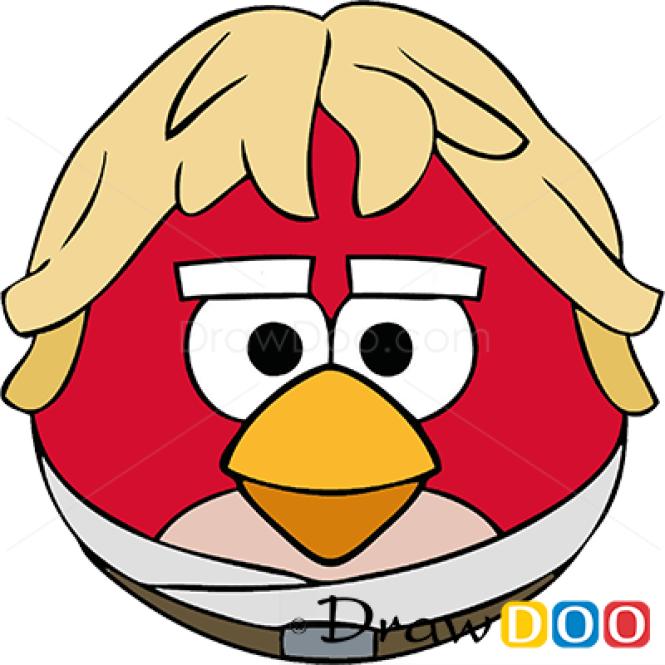 How To Draw Luke Skywalker Angry Birds