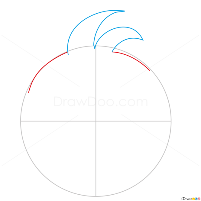 How to Draw Red Space Bird, Angry Birds