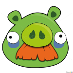 How to Draw Moustache Pig, Angry Birds