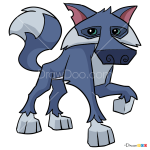 How to Draw Wolf, Animal Jam