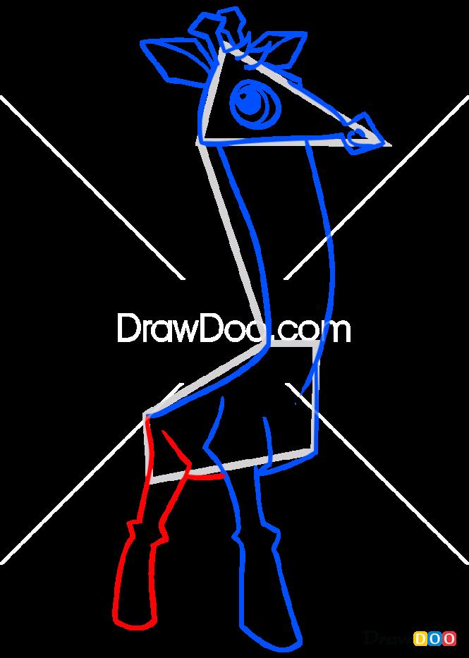 How to Draw Giraffe, Animal Jam
