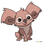 How to Draw Koala, Animal Jam