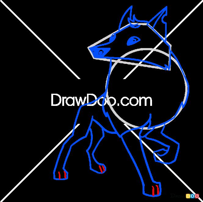 How to Draw Arctic Wolf, Animal Jam