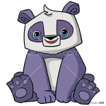 How to Draw Panda, Animal Jam