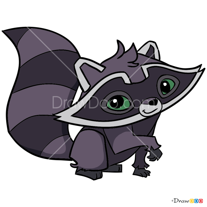 How to Draw Raccoon, Animal Jam