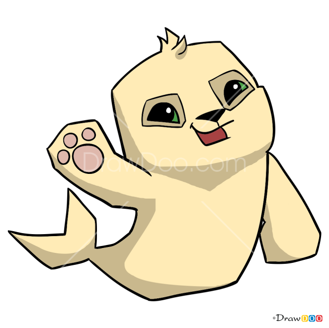 How to Draw Seal, Animal Jam