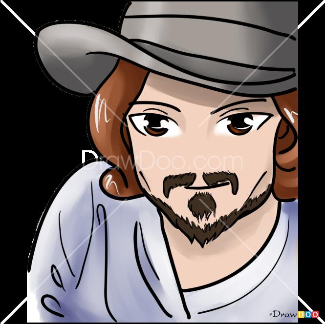 How to Draw Johnny Depp, Celebrities Anime