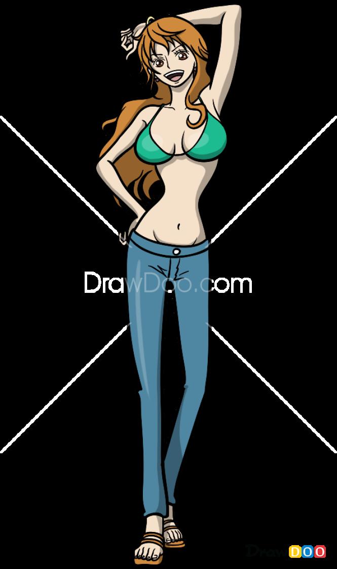 How to Draw Nami, Anime Girls