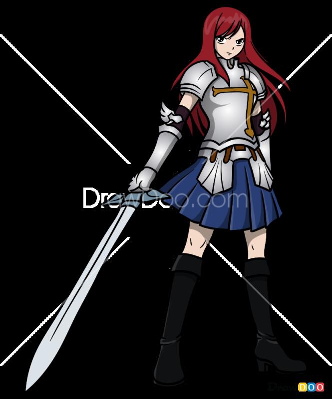 How to Draw Erza Scarlet, Anime Girls