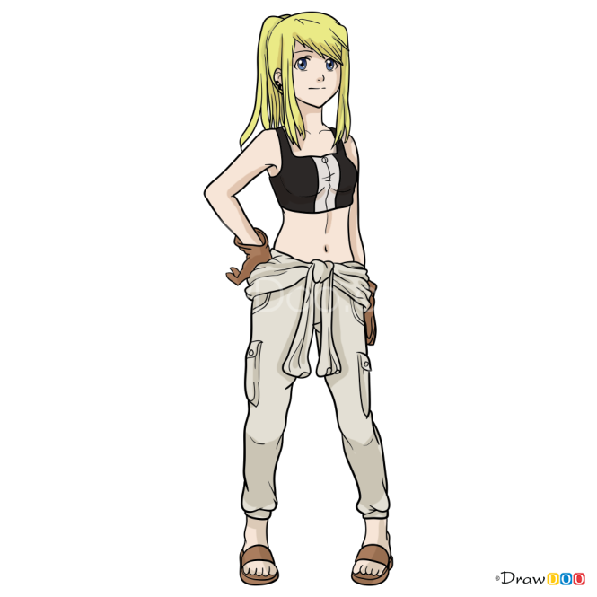 How to Draw Winry Rockbell, Anime Girls