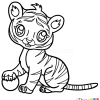 How to Draw Baby Tiger, Cute Anime Animals