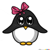 How to draw baby pinguin cute anime animals