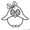 How to Draw Baby Pinguin, Cute Anime Animals