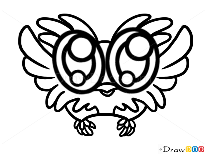 How to Draw Cute Owl, Cute Anime Animals