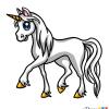 How to Draw White Unicorn, Cute Anime Animals