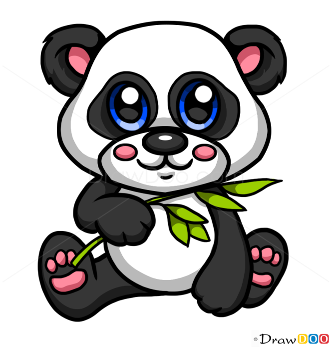 How To Draw Baby Panda Cute Anime Animals