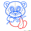 How to Draw Baby Panda, Cute Anime Animals