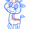 How to Draw Baby Giraffe, Cute Anime Animals