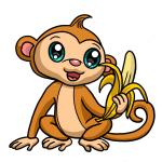 How to Draw Cute Monkey, Cute Anime Animals