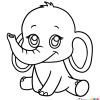How to draw baby elephant cute anime animals