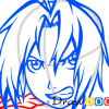 How to Draw Edward Elric, Fullmetal Alchemist, Anime Manga