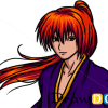 How to Draw Himura Kenshin, Rurouni Kenshin, Anime Manga