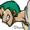 How to Draw Roronoa Zoro, One Piece, Anime Manga