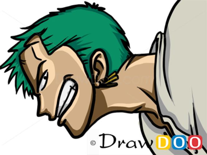 How to Draw Roronoa Zoro, One Piece, Anime Manga