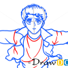 How to Draw Yusuke Urameshi, YuYu Hakusho, Anime Manga