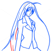 How to Draw Moka Akashiya, Rosario and Vampire, Anime Manga