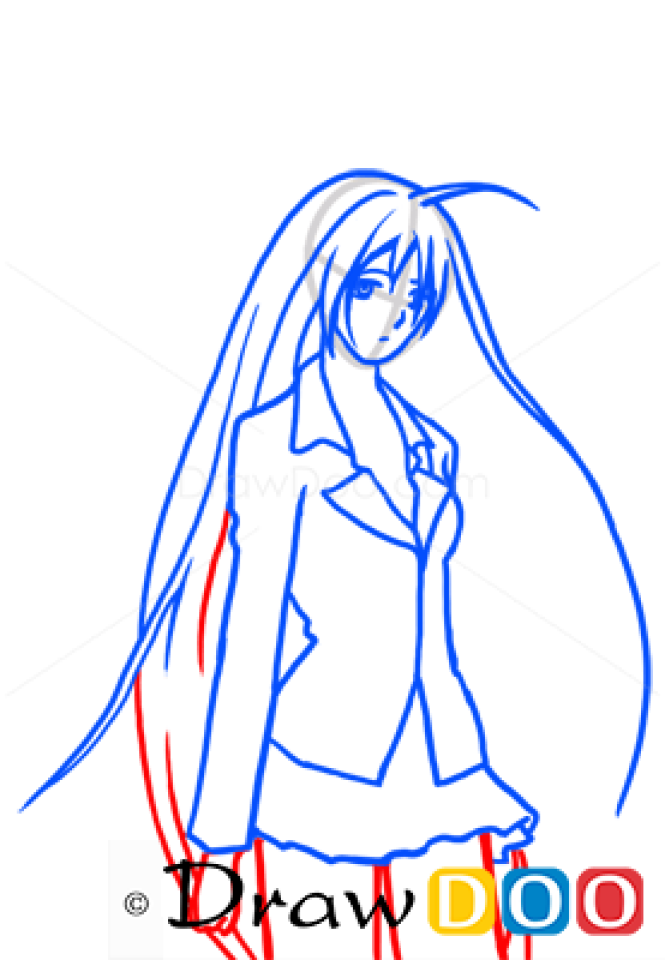 How to Draw Moka Akashiya, Rosario and Vampire, Anime Manga