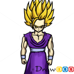 How to Draw Gohan, Dragon Ball, Anime Manga