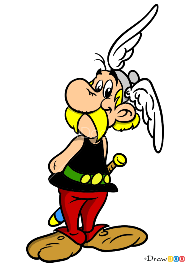 How to Draw Asterix, Asterix and Obelix