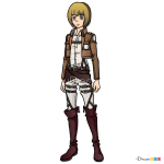 How to Draw Armin Arlert, Attack On Titan