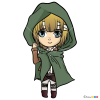 How to Draw Armin Chibi, Attack On Titan