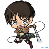 How to Draw Eren Chibi, Attack On Titan