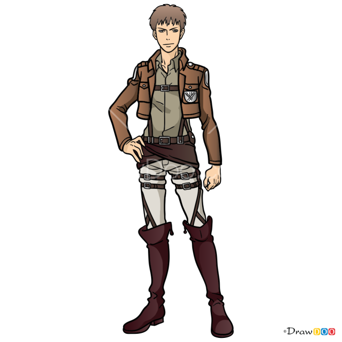 How to Draw Jean Kirstein, Attack On Titan