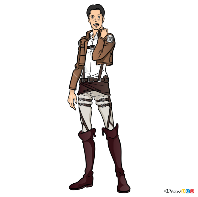 How to Draw Marco Bott, Attack On Titan