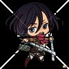 How to Draw Mikasa Chibi, Attack On Titan