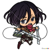 How to Draw Mikasa Chibi, Attack On Titan
