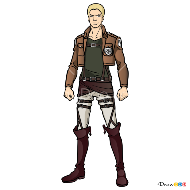 How to Draw Reiner Braun, Attack On Titan