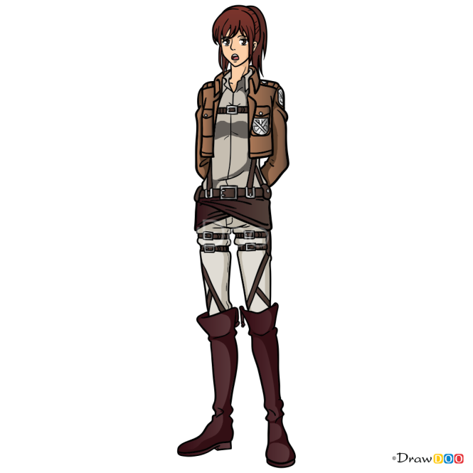 How to Draw Sasha Braus, Attack On Titan