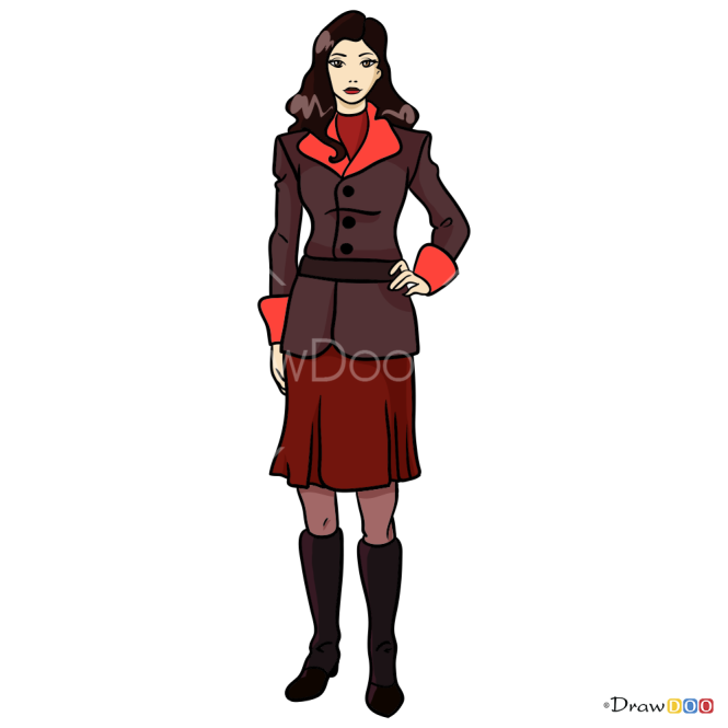 How to Draw Asami, Avatar