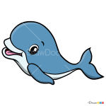 How to Draw Baby Dolphin, Baby Animals