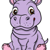 How to Draw Baby Hippo, Baby Animals