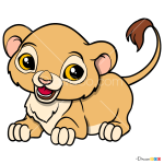 How to Draw Baby Lion, Baby Animals