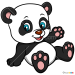 How to Draw Baby Panda, Baby Animals
