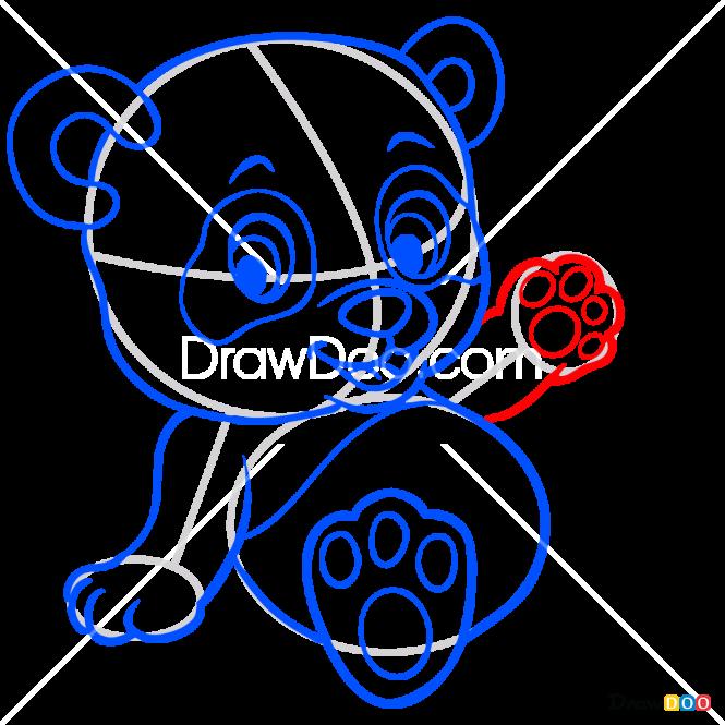 How to Draw Baby Panda, Baby Animals