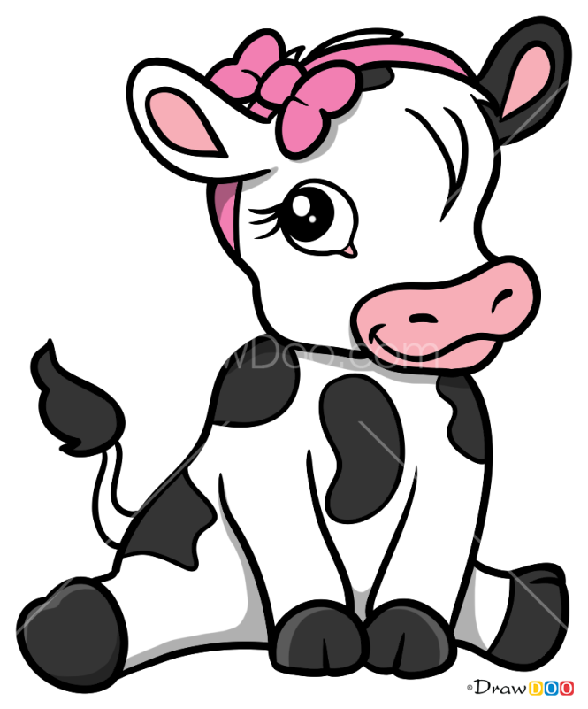 How to Draw Calf, Baby Animals