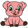 How to Draw Piggy, Baby Animals